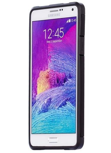 Microsonic Slim Fit Dual Layer Armor Galaxy Note 4 Kılıf Siyah Renkli